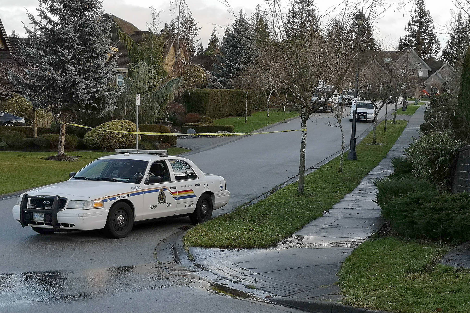 Police on the scene in Morgan Heights following the Jan. 6, 2021 shooting death of Gary Kang. (File photo)