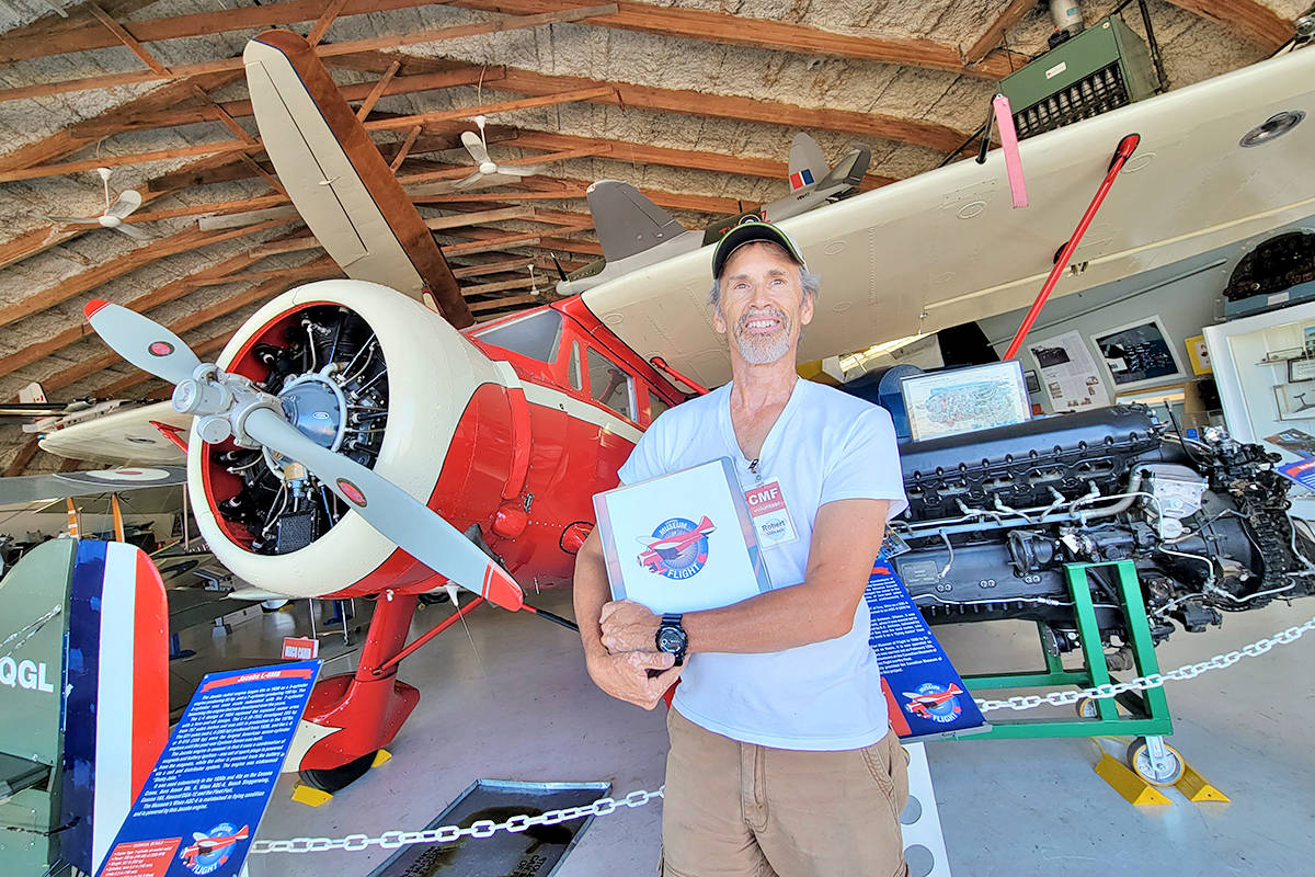 This antique aircraft has an unusual connection to the original Star Wars film, and Aldergrove resident Robert Gillcash, a volunteer who conducts tours of the Canadian Museum of Flight in Langley, will explain if you visit. (Dan Ferguson/Langley Advance Times)