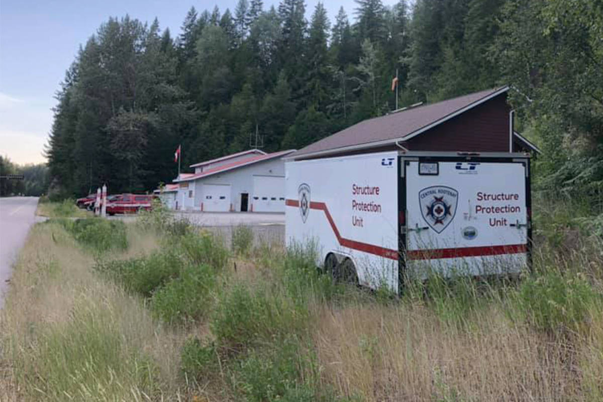 Suppression equipment was stolen from a trailer at the Beasley Fire Hall. Photo: Beasley Fire Department