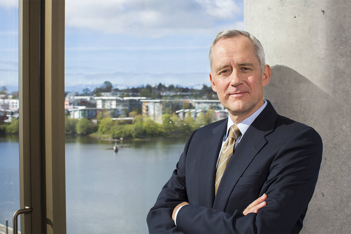 B.C. Investment Management Corporation CEO Gordon Fyfe has led the corporation to achieve positive returns for the province's civil service pension plan. (Kiernan Green/News Staff)