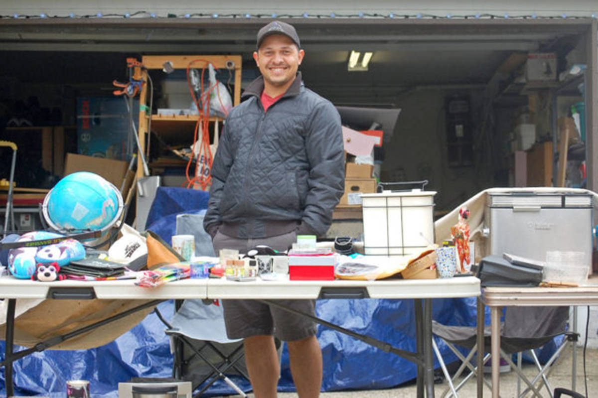 Aldergrove resident Isaiah Groom participated in the Aldergrove community garage sale in 2019 out of his family home. Within the first few hours of selling his wares he accumulated over $100 in sales. (Aldergrove Star files)
