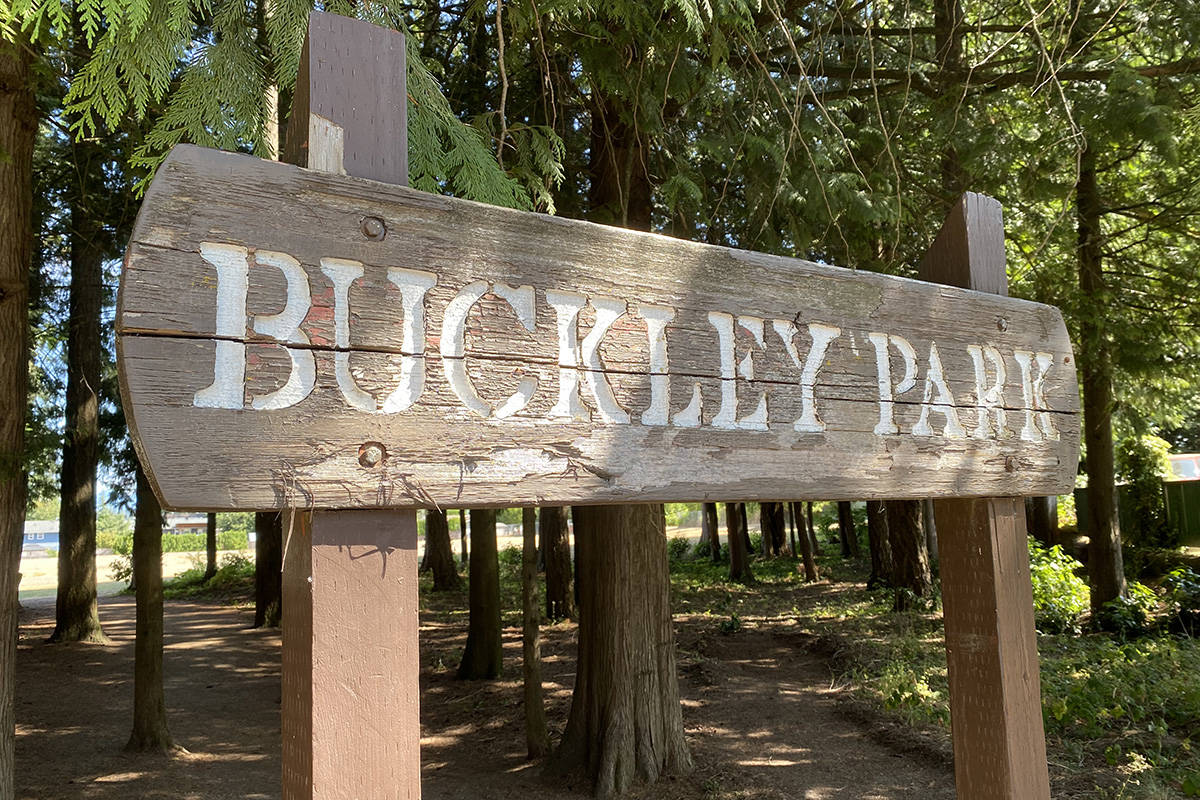 Mounties arrested a 33-year-old Langley man under the Mental Health Act some time overnight on July 23, 2021 in Langley City's Buckley Park. (Joti Grewal/Langley Advance Times)