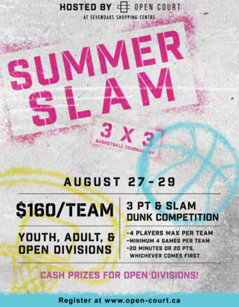 The Summer Slam event debuts at Abbotsford's Sevenoaks Shopping Centre later this summer.