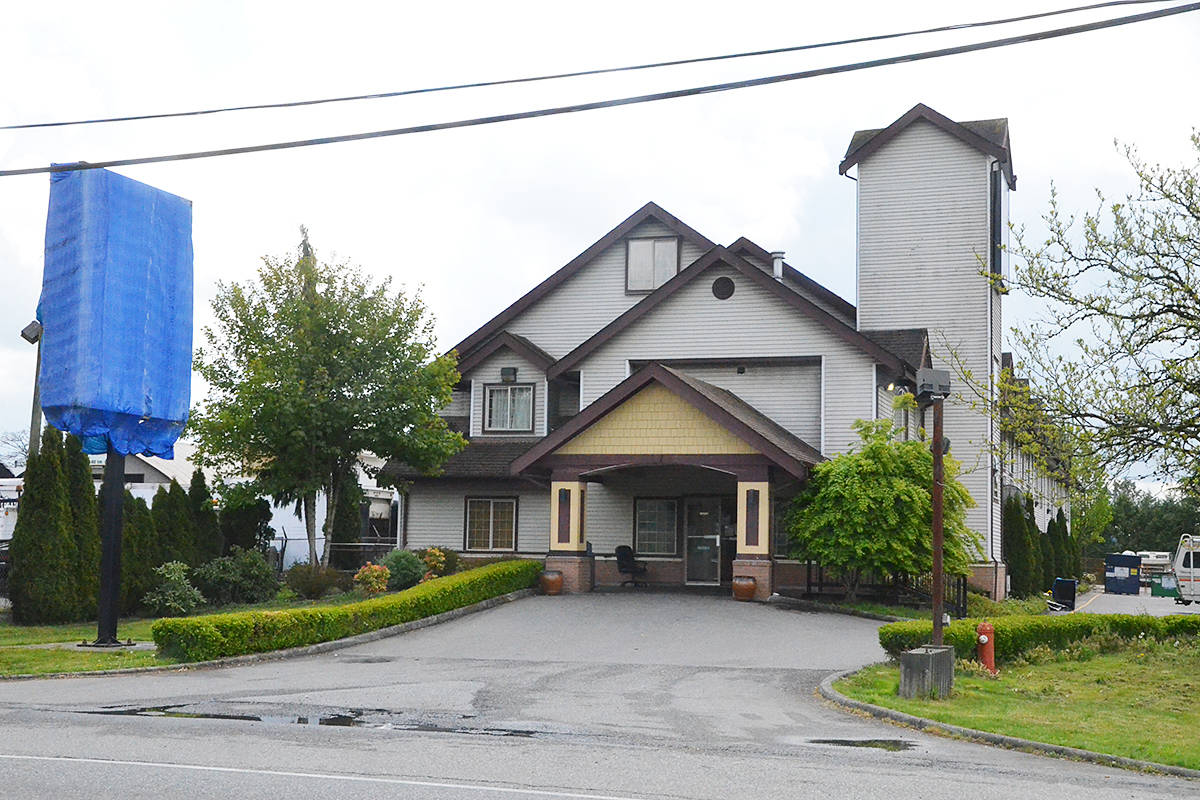 This Milner hotel was the site of a stabbing in May, 2020 that led to a complex police investigation of a suspected dial-a-dope ring. (Langley Advance Times files)