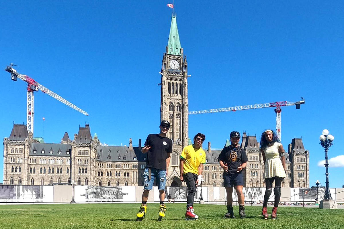 The Bee Blader crew made it to Ottawa this past week on their trek across Canada. (Special to The Star)