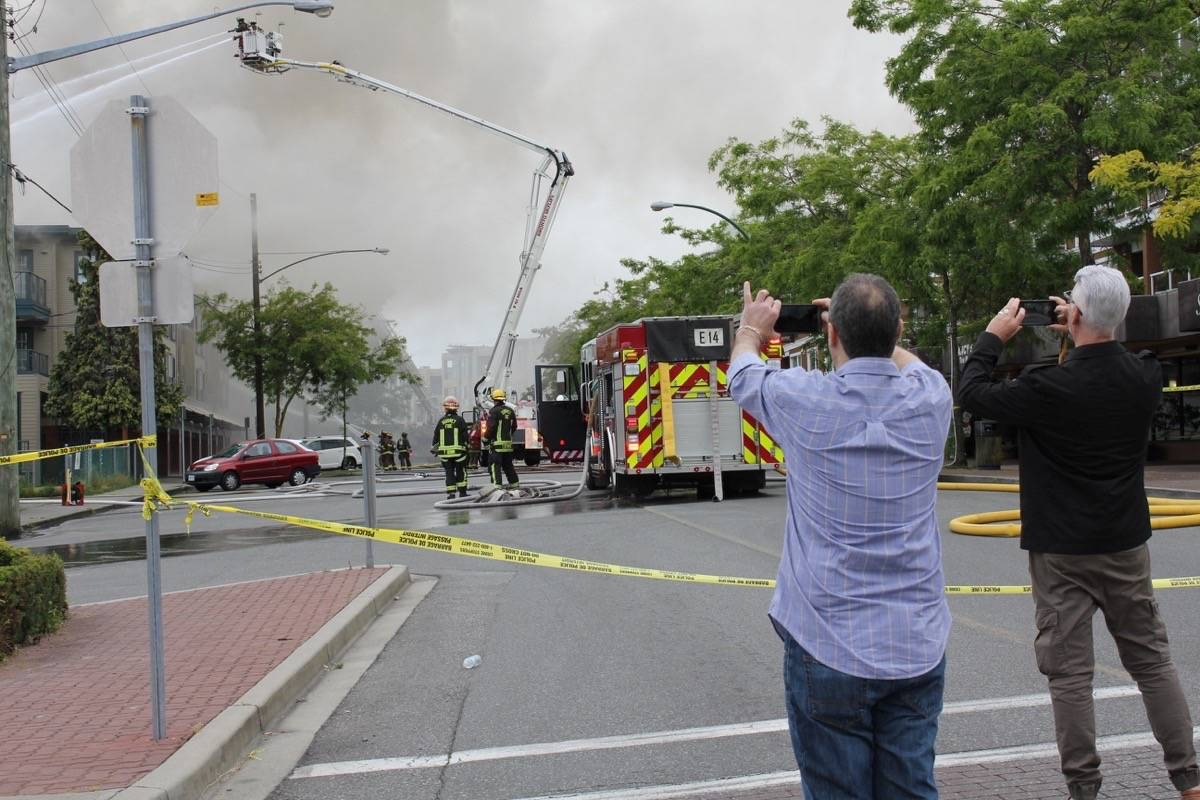 Fighting the May 2016 Five Corners fire necessitated the City of White Rock to tap into the Metro Vancouver water supply. (File photo)