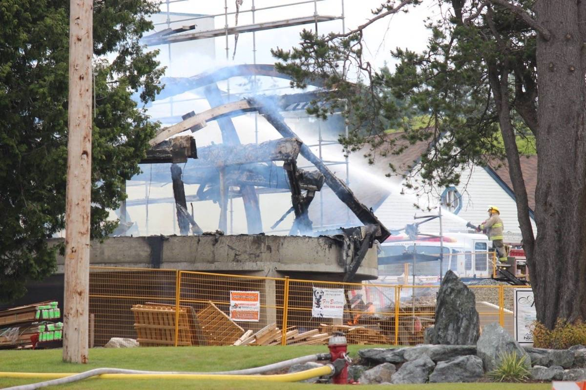 A massive fire swept through White Rock's Five Corners district on May 15, 2016. (Contributed file photo)