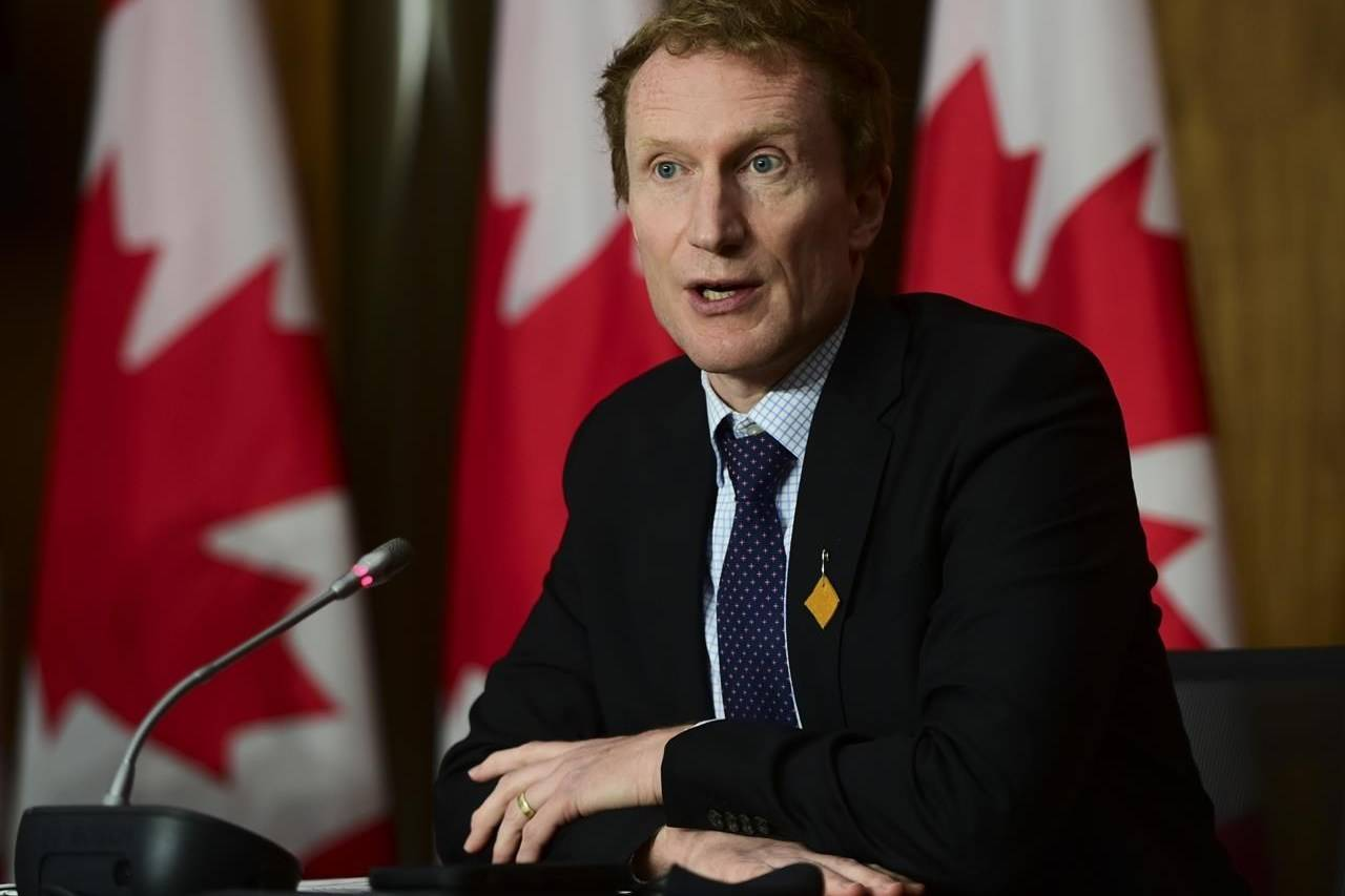 Marc Miller, Minister of Indigenous Services, holds a press conference in Ottawa on Wednesday, June 23, 2021. THE CANADIAN PRESS/Sean Kilpatrick