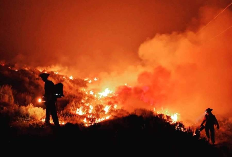 Researchers determined that the extreme summer temperatures during the 2017 British Columbia forest fire season were made over twenty times more likely by human-induced climate change. Extreme high temperatures combined with dry conditions increase the likelihood of wildfire ignition and spread. (Photo BC Wildfire Service)
