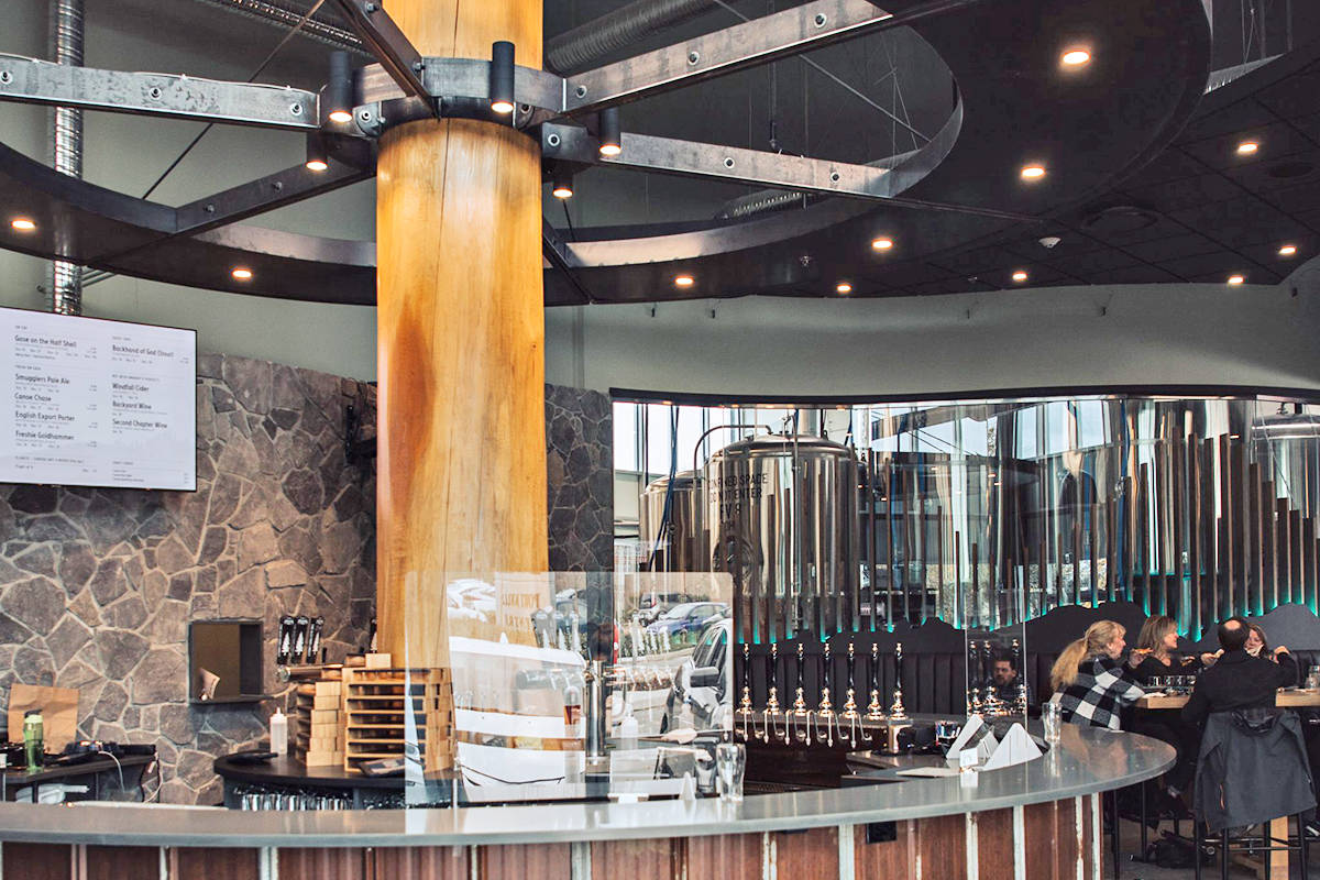 You are looking at one of the coolest taprooms in the world, as selected by the 2021 Craft Beer Marketing Awards. It's in Langley, at the Smugglers' Trail Caskworks in Walnut Grove. (Special to Langley Advance Times)