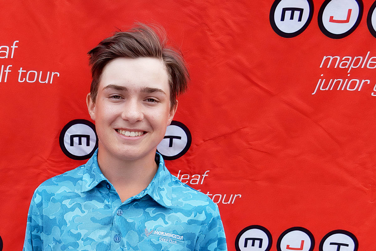 Langley's Caleb Davies tied for second at the MJT Western Championship presented by Junior Golf Hub at Copper Point Golf Club in Invermere on July 27 and 28. (file)