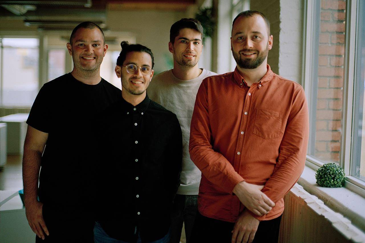PartnerStack co-founders (left to right) Luke Swanek, Jon Mendes, Neil Chudleigh and Bryn Jones are shown in a handout photo. THE CANADIAN PRESS/HO