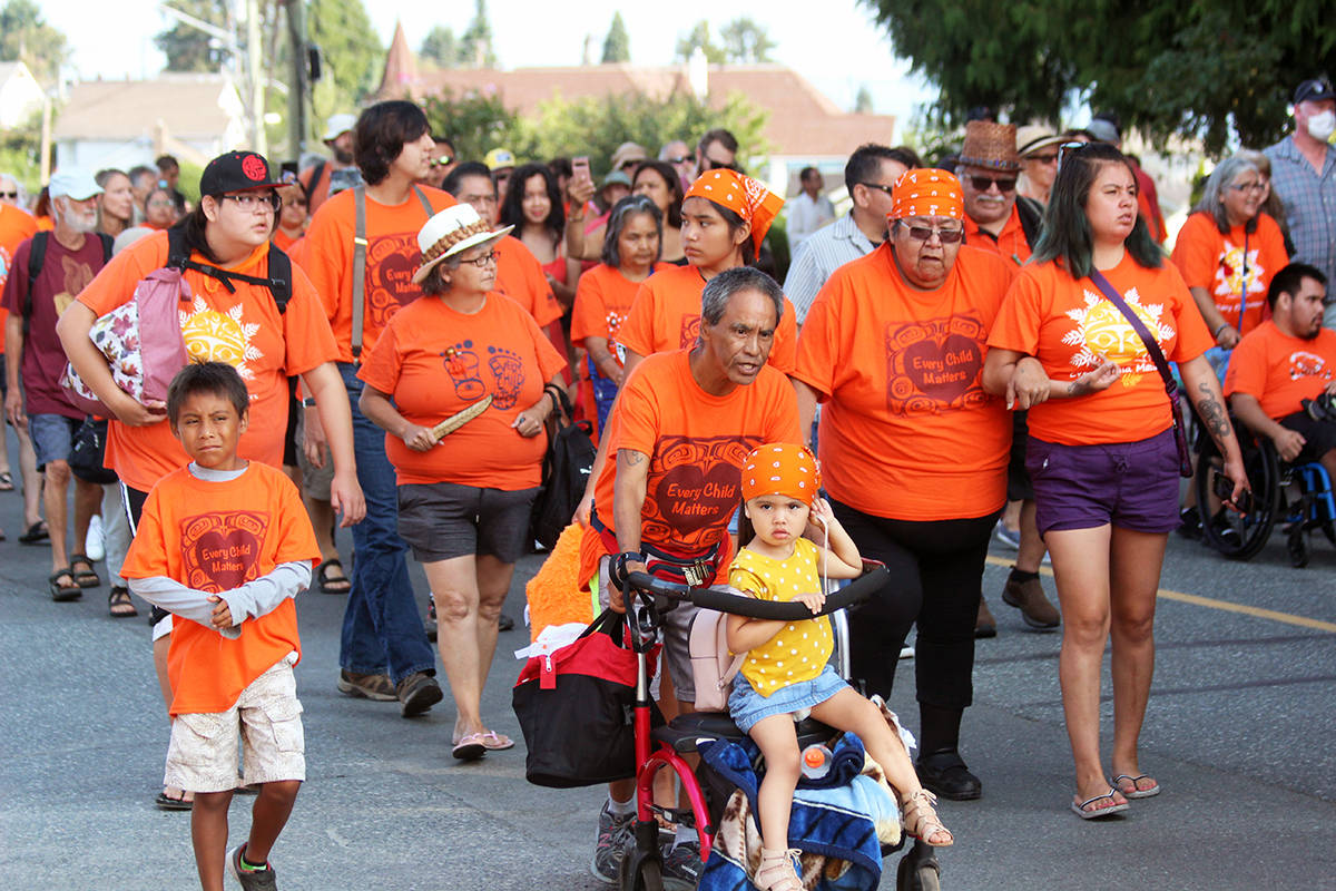March participants of all ages on Willow Street. (Photo by Don Bodger)