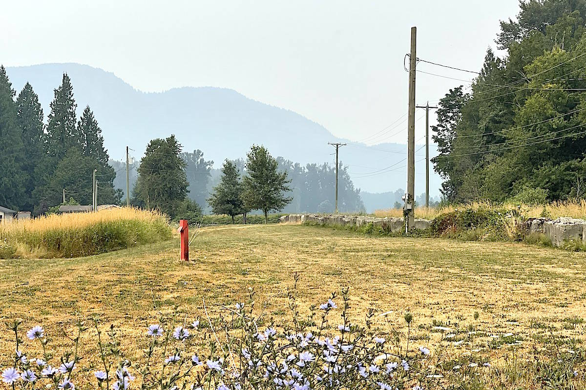 Smoky skies were visible Aug. 1, 2021 in Chilliwack as the air quality advisory for the Fraser Valley and Lower Mainland continues. (Jennifer Feinberg/ Chilliwack Progress)