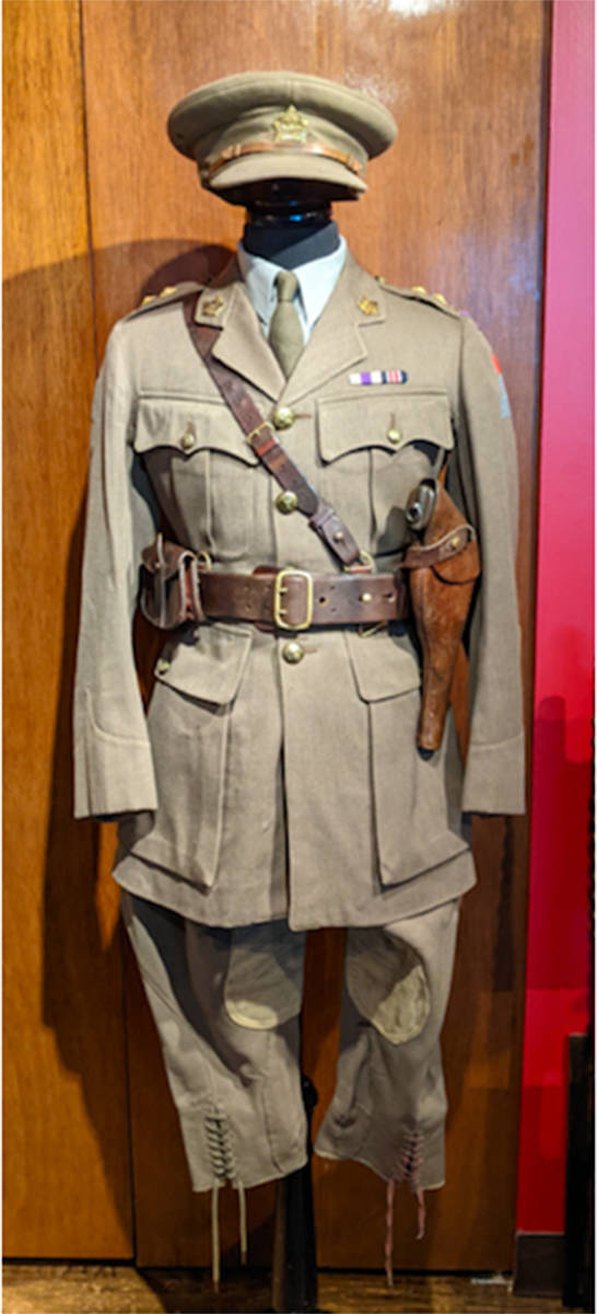 Geoff Goodship estimates his father's uniform must be at least 104 years old. Submitted photo