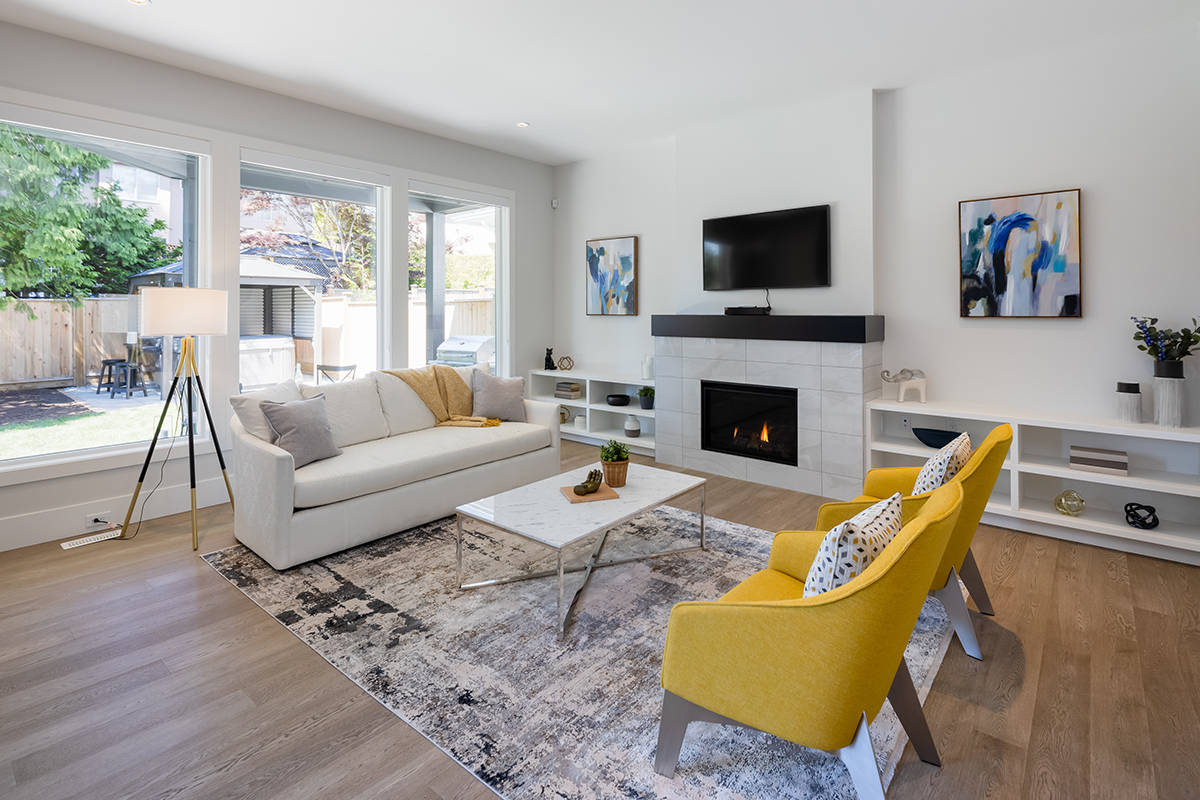 This modern masterpiece comes fully furnished by Yaletown Interiors