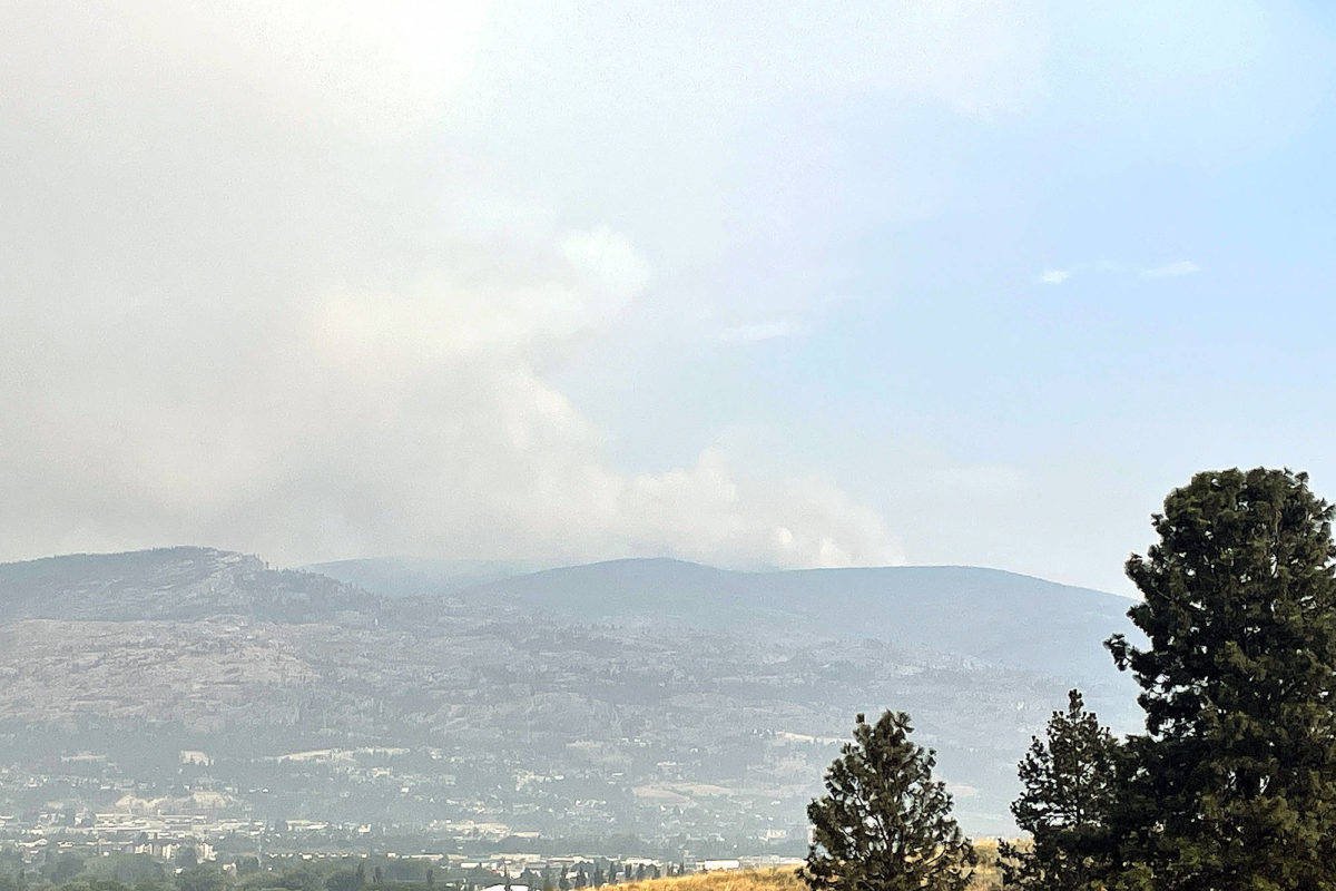 Thomas Creek fire seen from West Bench Aug. 3. (Brennan Phillips Western News)