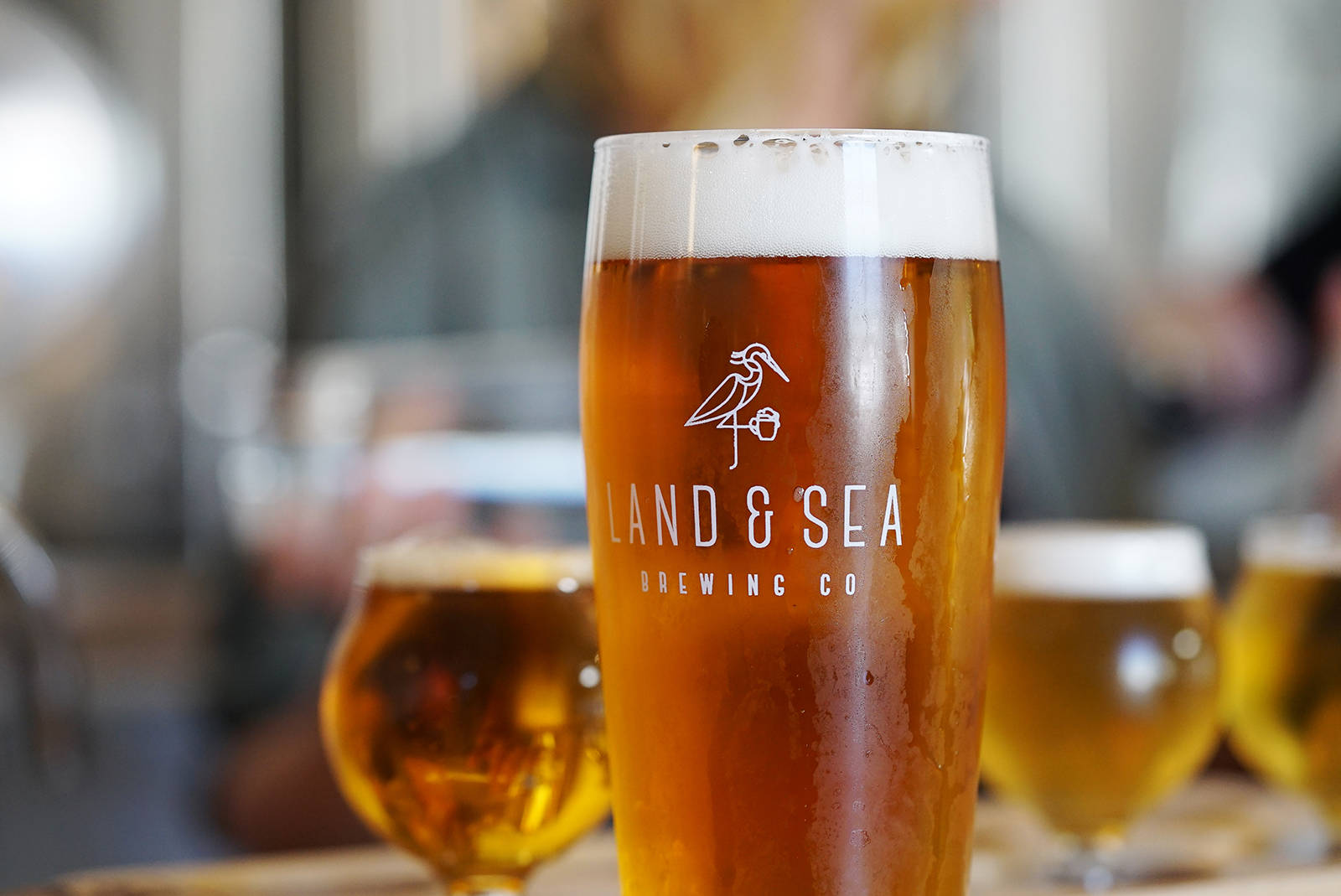 The BC Ale Trail's 2019 Best Brewery Experience winner, Land & Sea Brewing in Comox, was recognized for its open-concept tasting room where customers can see the brewer in action while sampling the beers and enjoying delicious food.