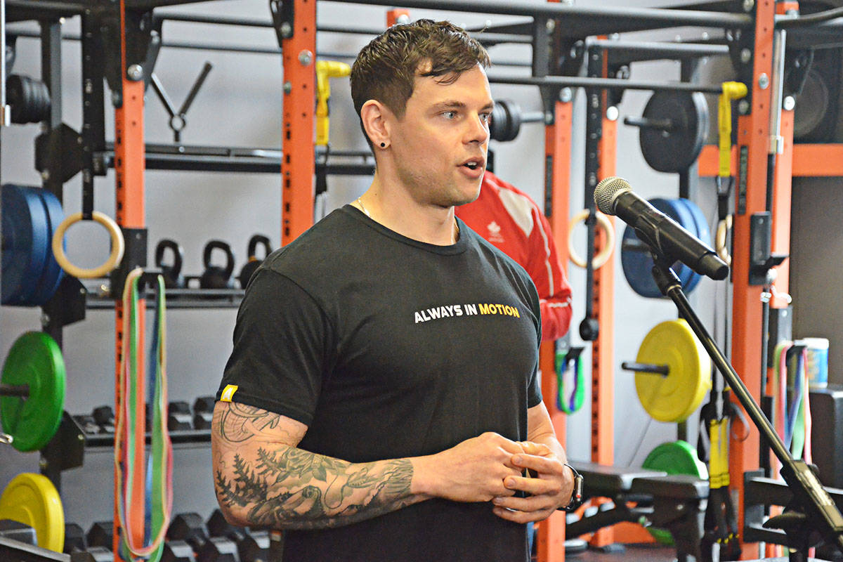 Jake Harcoff, the founder of AIM Athletic in Langley, took the Digital Bootcamp course last year. (Matthew Claxton/Langley Advance Times)