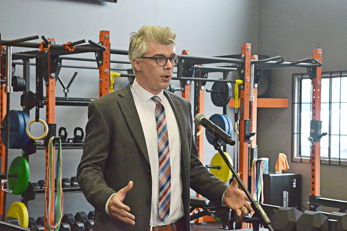Langley MLA Andrew Mercier said the program will benefit local businesses like AIM. (Matthew Claxton/Langley Advance Times)