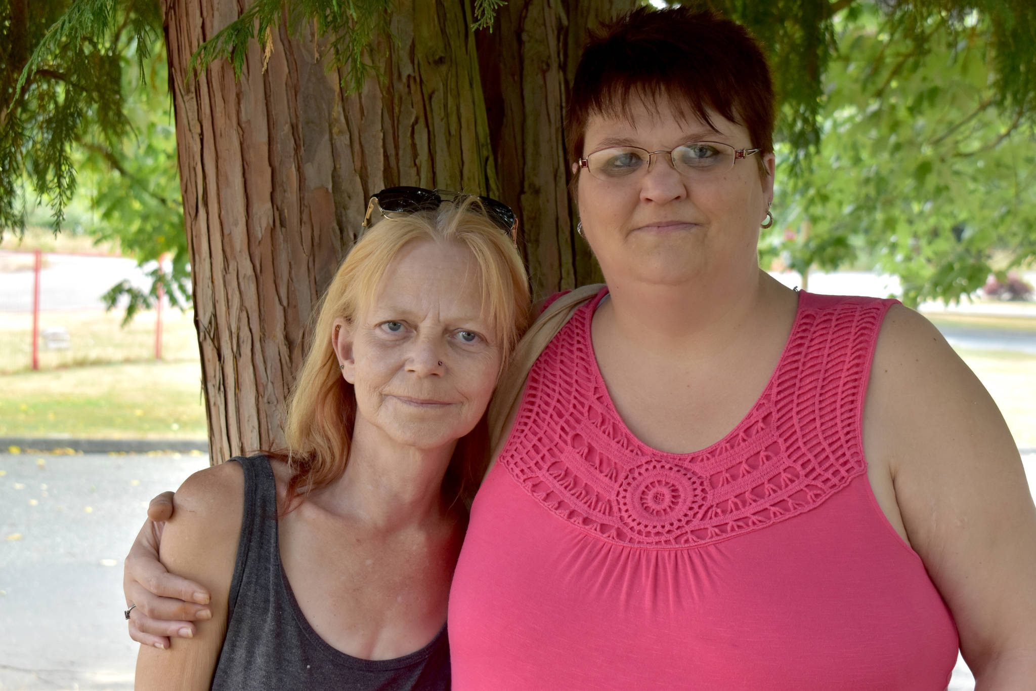 Beth and Shayna Davison are now very close after discovering they are half-sisters. (Ben Lypka/Abbotsford News)