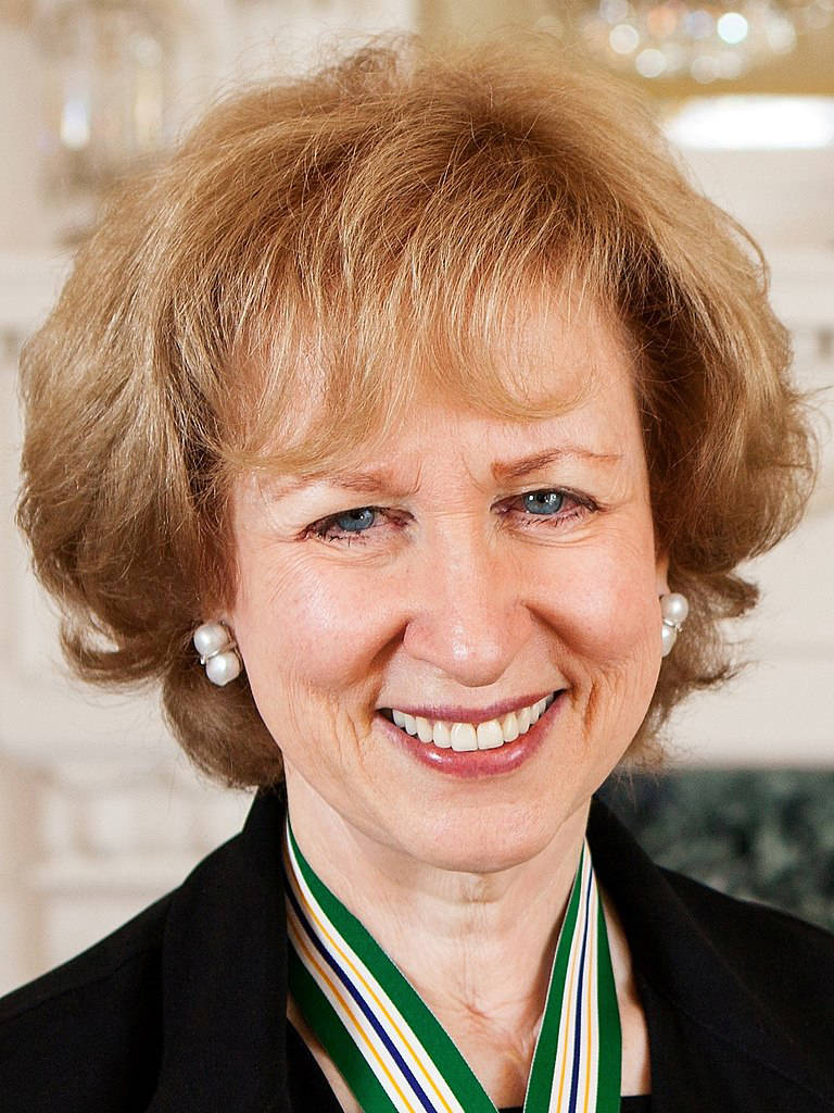 Canada's first female Prime Minister was Kim Campbell. Which party did she represent? (Wikimedia Commons)