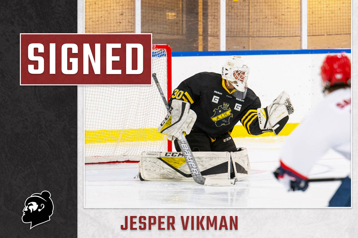 Jesper Vikman has signed a standard WHL player agreement with the Vancouver Giants. (Graphic by Jamison Derksen)