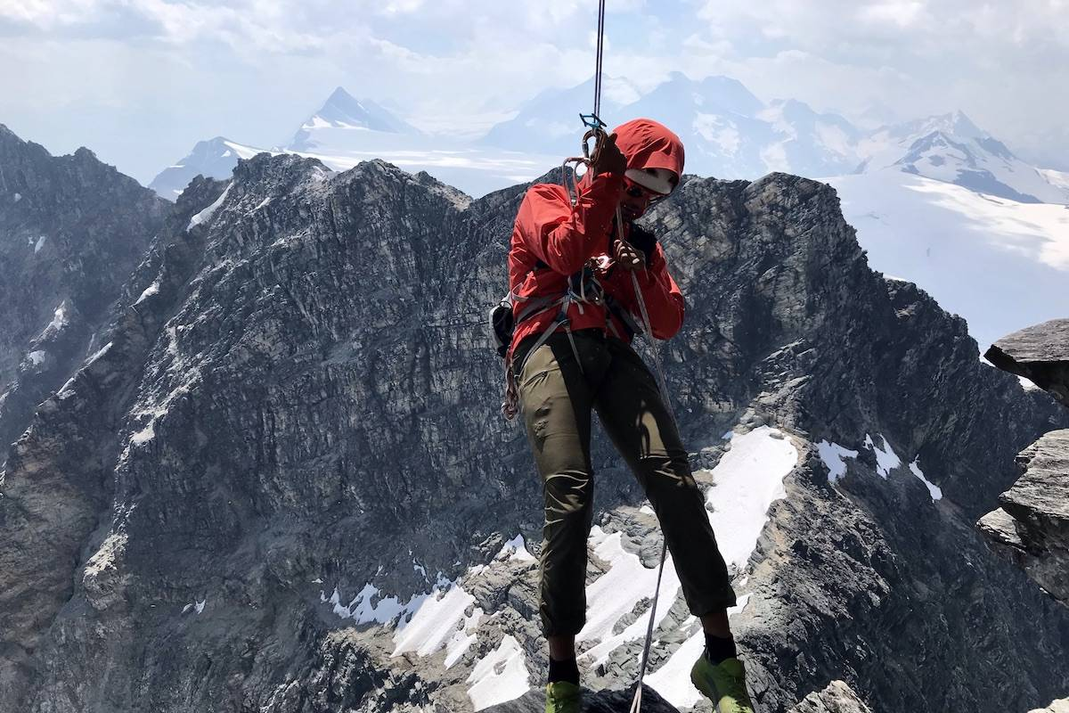 Eric Carter rappelling. (Contributed-Leif Godberson)
