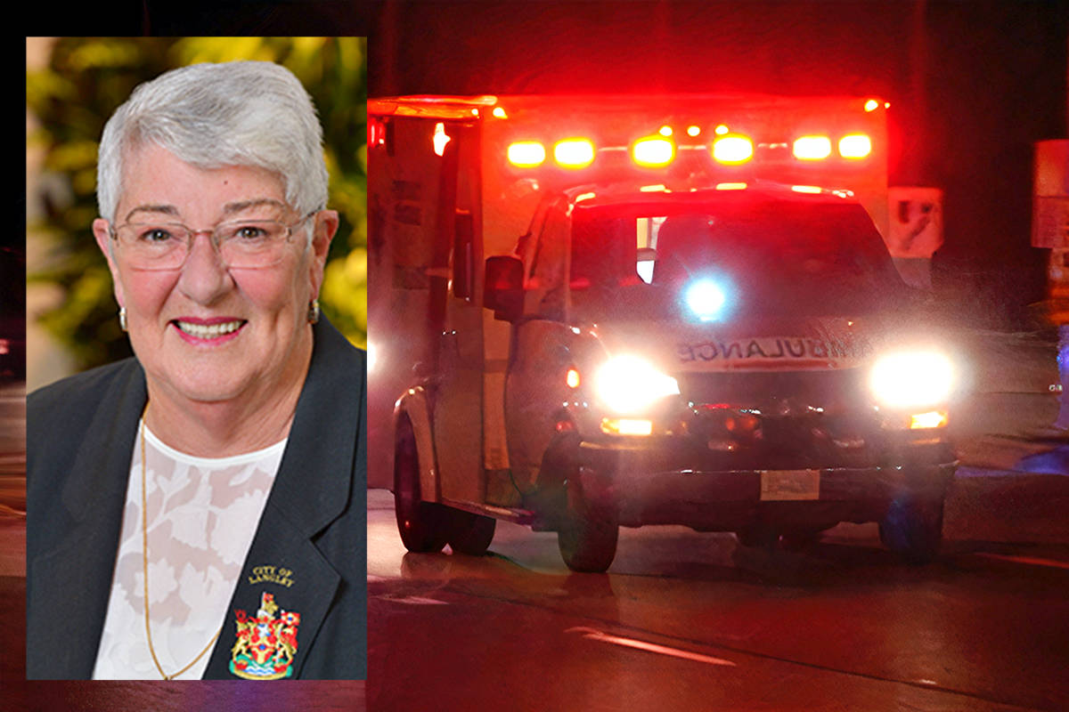 Langley City Councillor Gayle Martin won support for a motion having the provincial government and BC Emergency Health Services improve coordination between paramedics and firefighters, as a 2019 report called for. (Langley Advance Times/Black Press Media files)