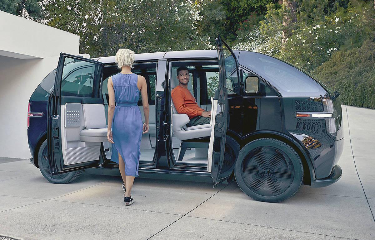 The Canoo Lifestyle Vehicle is a minivan with a claimed 250 miles (400 kilometres) of maximum range. PHOTO: CANOO
