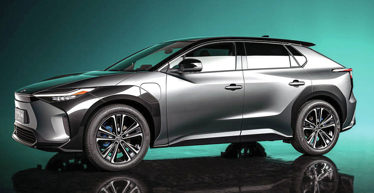 The recently shown Toyota BZ4X electric concept also charts a path for Subaru since the company's new Solterra is jointly designed with Toyota. PHOTO: TOYOTA