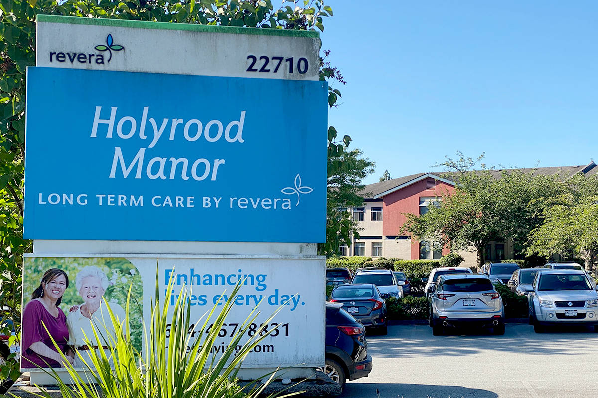 Holyrood Manor, operated by Rivera Inc., first had three COVID-positive cases when the outbreak was declared. (Priyanka Ketkar/The News)
