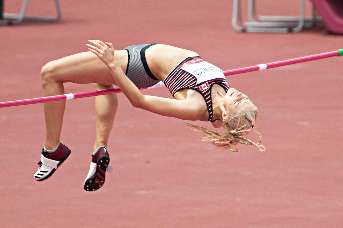 Despite feeling like she was 'hit by a train' Langley's Georgia Ellenwood managed a personal best in the high jump at the Tokyo games on Aug. 4. (Daniel Lea/CSM)