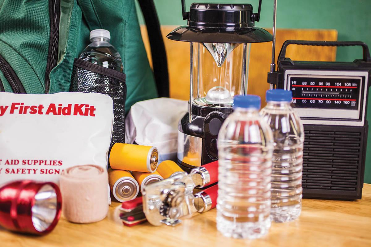 Emergency kit items. (Stock photo)