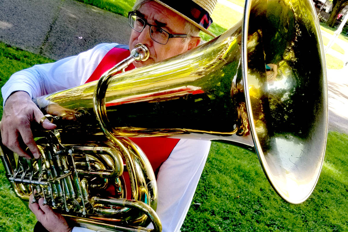 Fort Langley Jazz and Arts Festival kicked off their virtual event in 2020 with a Mardi Gras parade. (Jeanette Martin/Special to the Langley Advance Times)