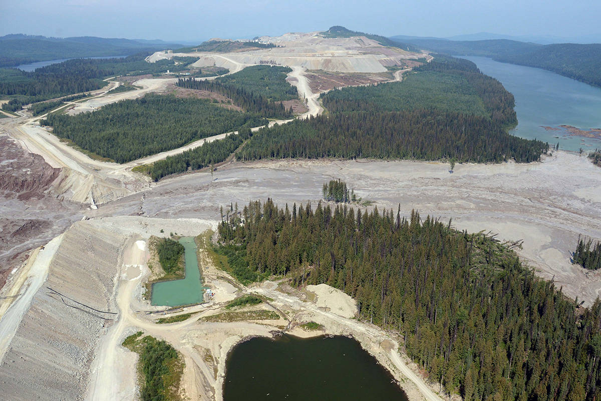 Two engineers have been found to have demonstrated unprofessional conduct in the course of their work at Mount Polley Mine connected with the Aug. 2014 tailings storage facility breach. This is a view of the breach repairs in 2019. (THE CANADIAN PRESS/Jonathan Hayward)