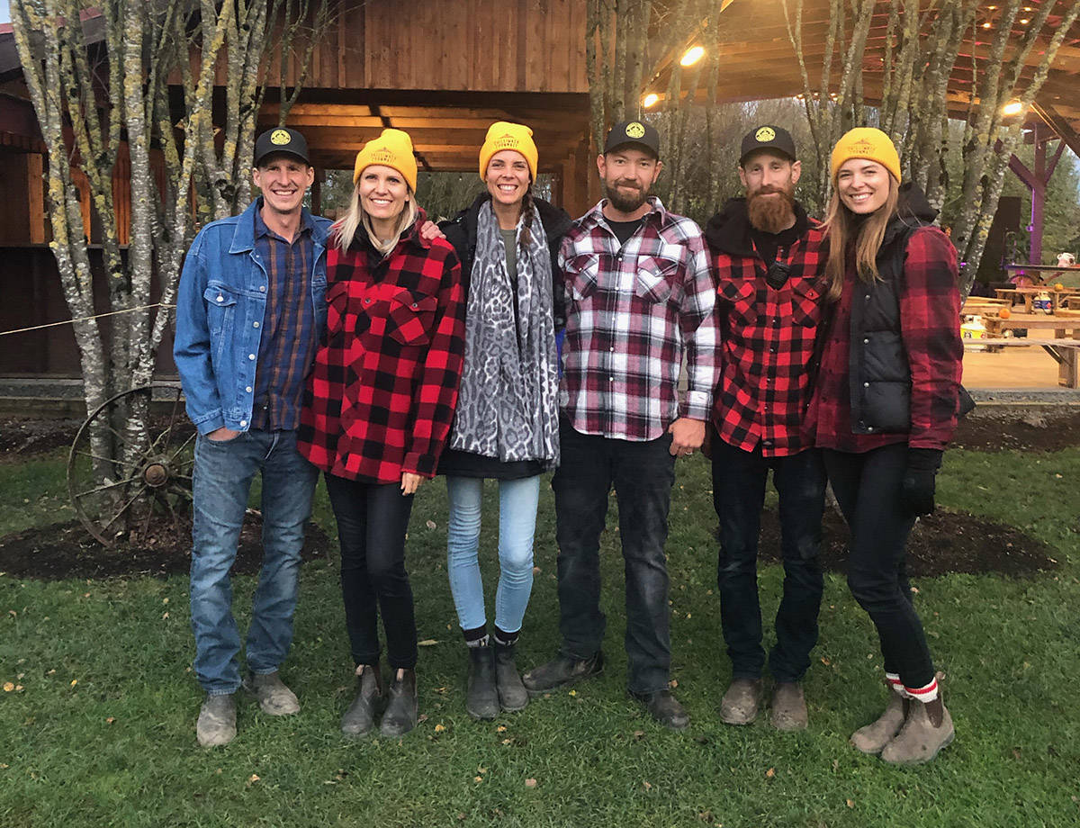 Owners of the Chilliwack Corn Maze (from left): Steve and Danielle Miller, Vanessa and James Oddy, and Chris and Mariah Vermeer. (Submitted)