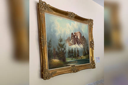 Comox Valley resident Stephen Burgess may have found a rare painting by Dutch artist Wijmer at the Courtenay Value Village. Photo by Erin Haluschak