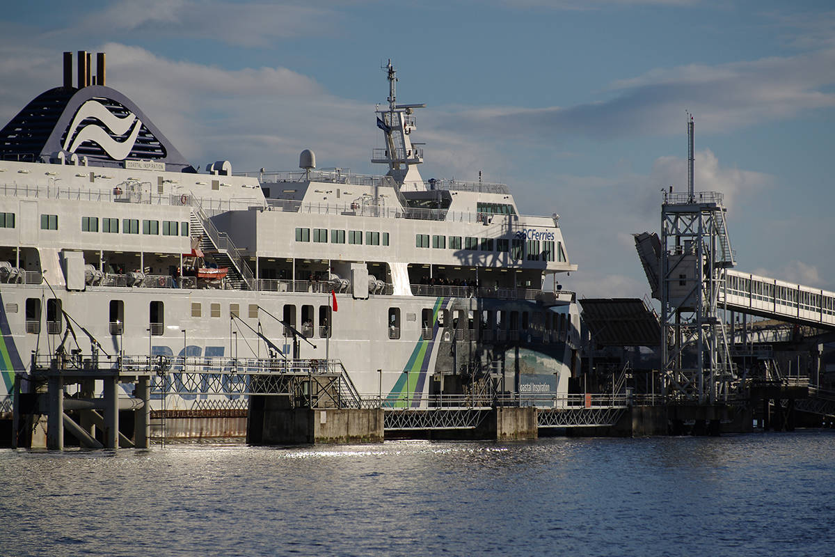 While a ferry, destined for Duke Point from Tsawwassen, departed over 145 minutes late due to a staffing shortage, B.C. Ferries is anticipating on-schedule departures and proper worker numbers for the weekend of Aug. 13-15. (News Bulletin file)