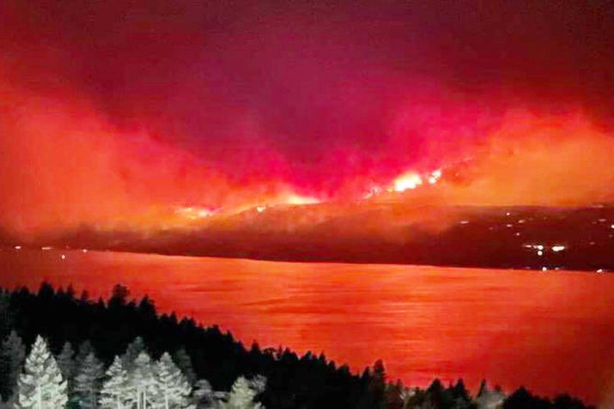 A picture of the White Rock Lake wildfire. (Special to The News)