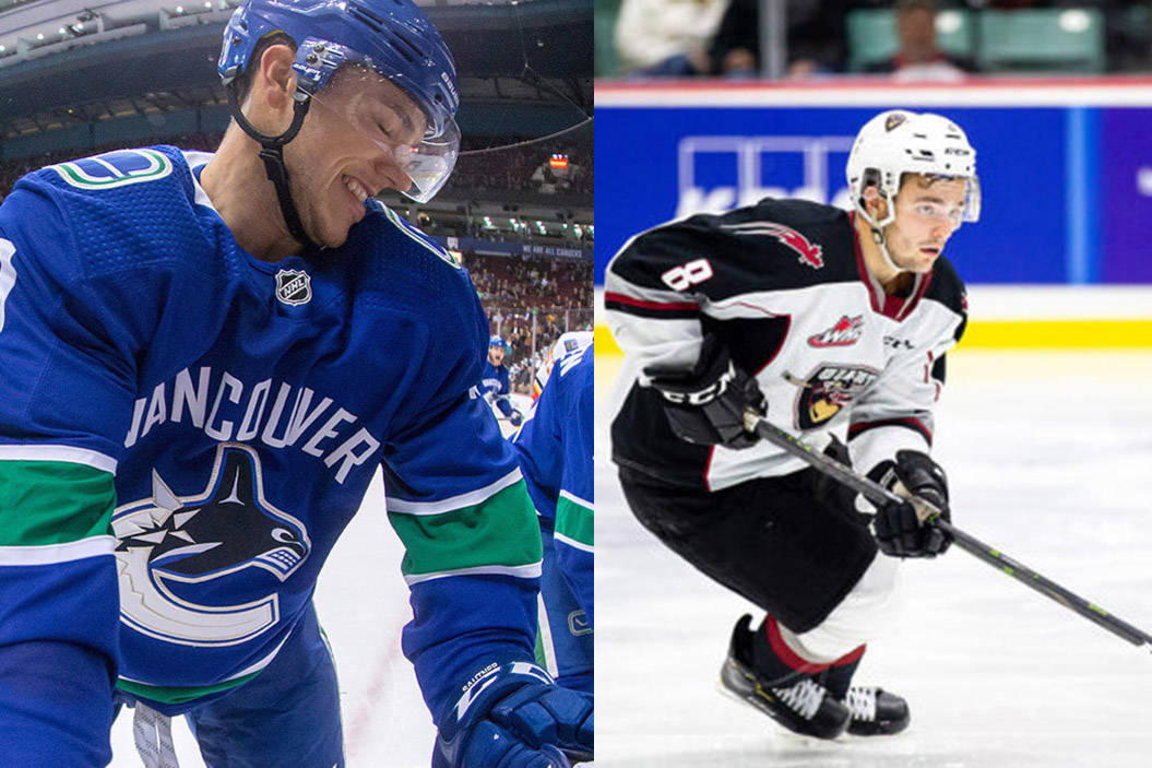 The Abbotsford Canucks have signed defenceman Ashton Sautner (left) and forward Tristan Nielsen to American Hockey League contracts. (File photos)
