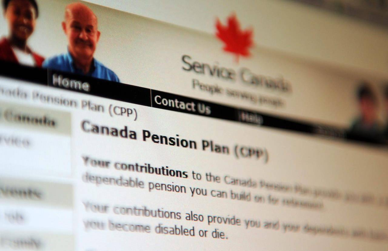 Information regarding the Canadian Pension Plan is displayed of the service Canada website in Ottawa on Tuesday, January 31, 2012.THE CANADIAN PRESS/Sean Kilpatrick