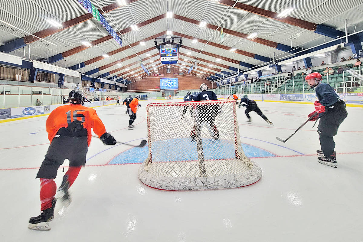 """Langley Rivermen hosted a summer ID (talent identification) camp at the """"Lodge"""" on Saturday, Aug. 14 and Sunday, Aug 15. It was also an opportunity to show off the many upgrades to the facility. (Dan Ferguson/Langley Advance Times)"""
