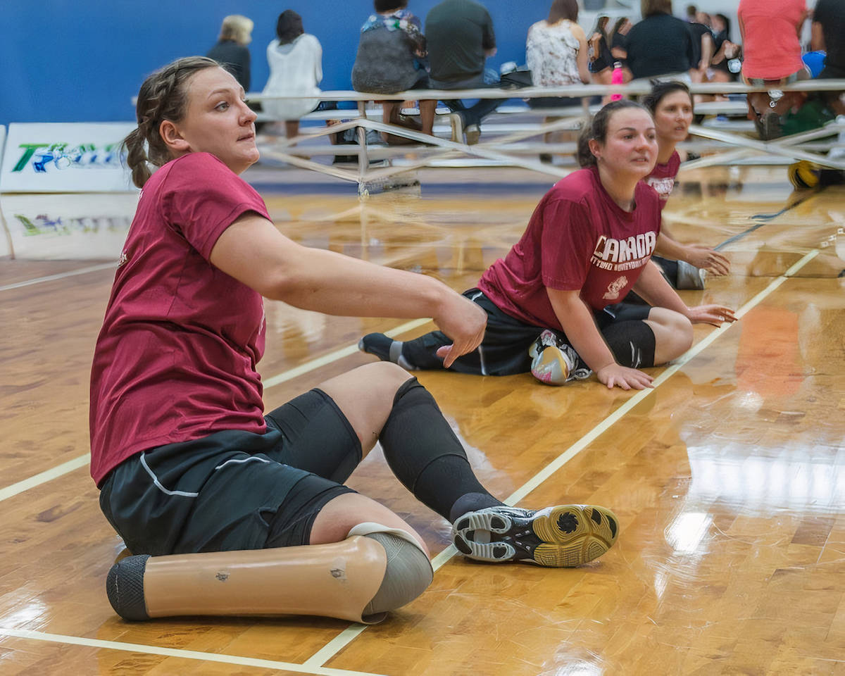 Langley City's Danielle Ellis will lead the Canadian seated volleyball team at the Paralympics in Tokyo. (Langley Advance Times file)