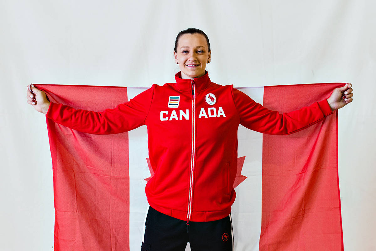 Langley City's Danielle Ellis will lead the Canadian seated volleyball team at the Paralympics in Tokyo. (Heidi Peters/Special to Langley Advance Times)