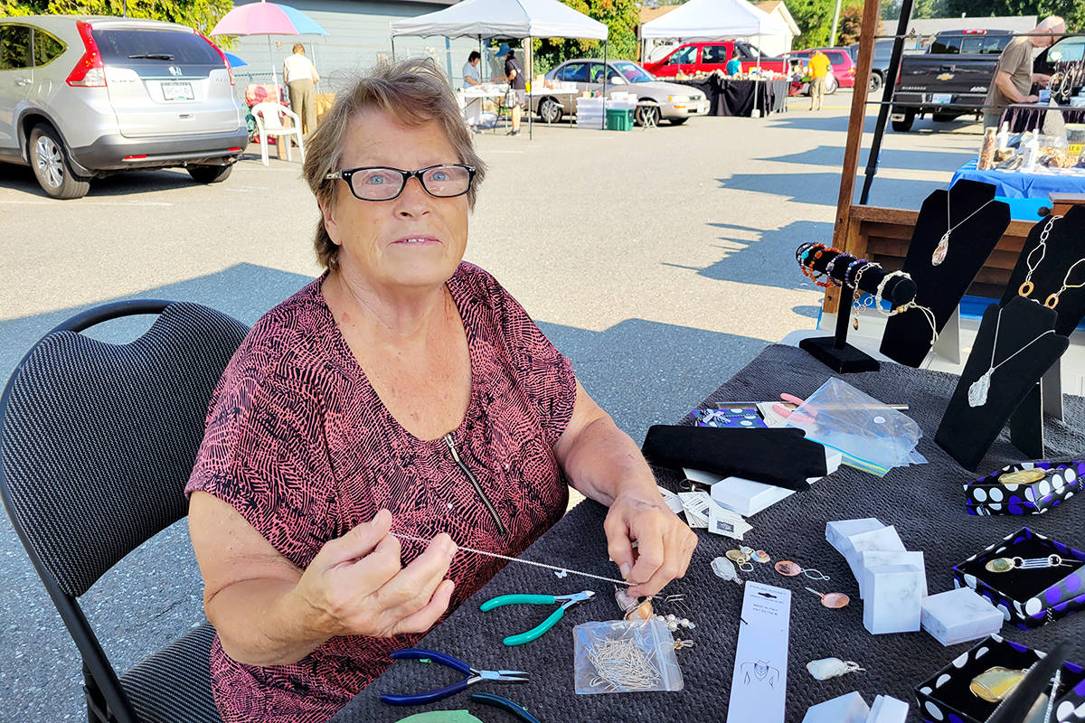 Close to 30 vendors appeared at the Fraser Valley Rock & Gem Club tailgate sale on Sunday, Aug. 15 in the parking lot of the Aldergrove Legion. (Dan Ferguson/Langley Advance Times)