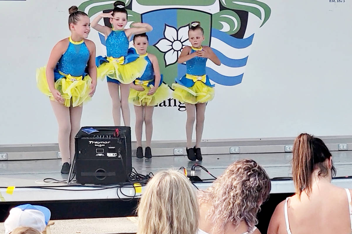 Members of the Kick It Up A Notch Academy of Dance were featured performers at the Tastes of Our Town event in Aldergrove on Saturday, Aug. 14. (R) (Dan Ferguson/Langley Advance Times)