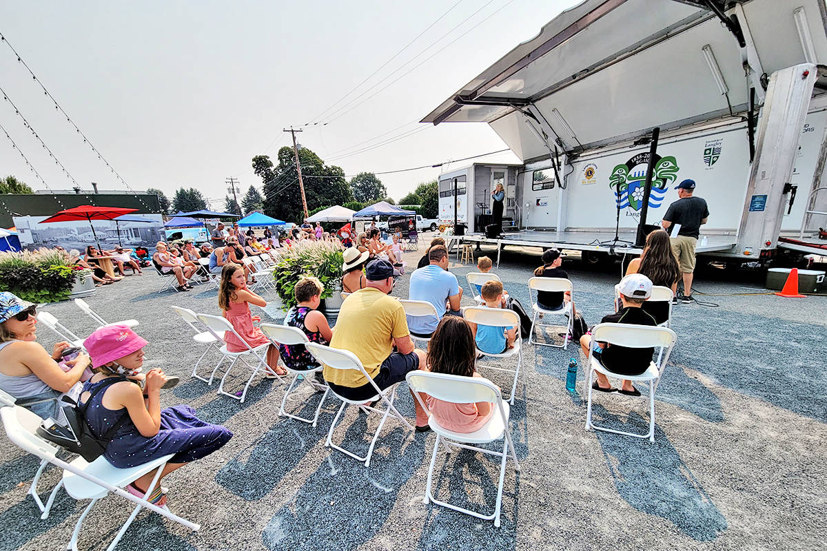 Turnout was good at the Tastes of Our Town event in Aldergrove on Saturday, Aug. 14. (Dan Ferguson/Langley Advance Times)