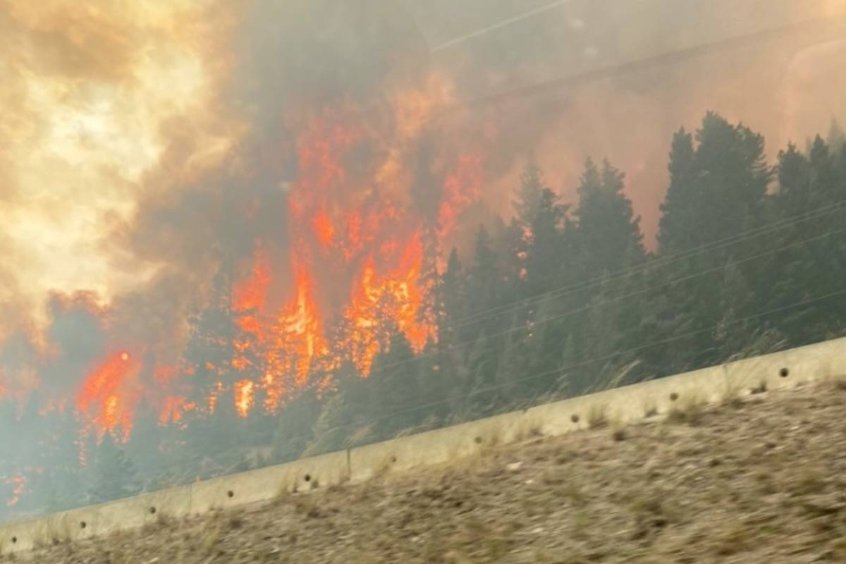 July Mountain wildfire off Coquihalla, Sunday Aug. 15. (Contributed/Andy Levang)