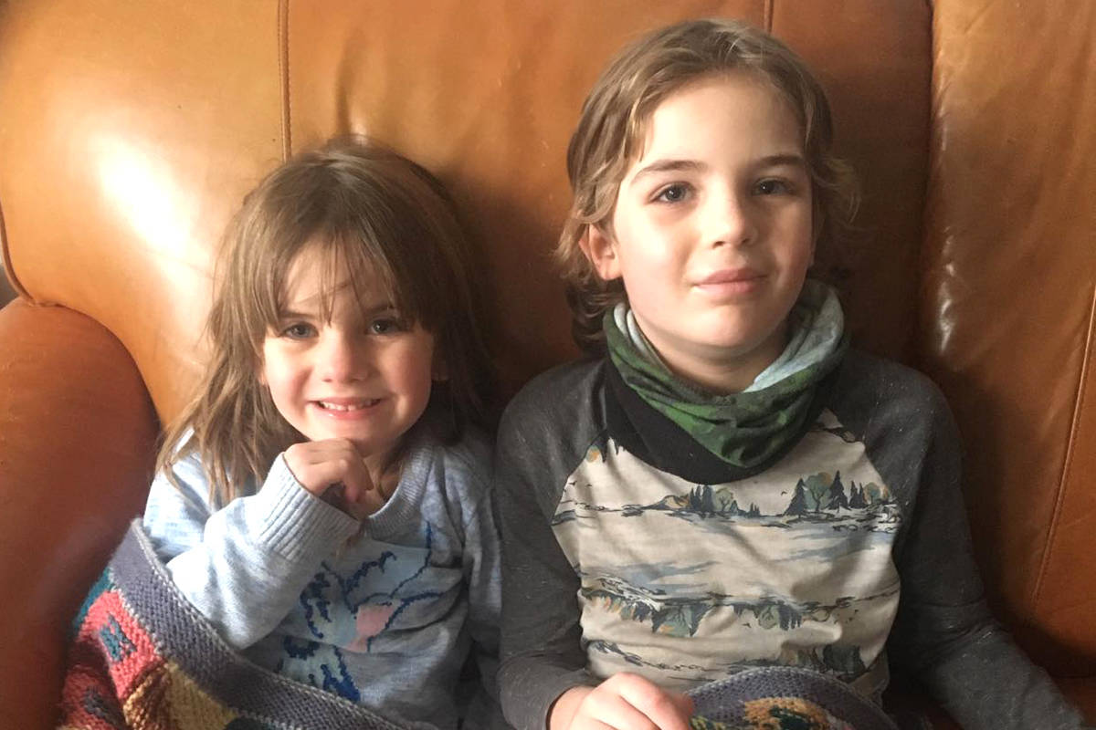 Nelson's Owen Canale, 8, tested positive for COVID-19, but the virus spared his six-year-old sister Ali. Photo: Submitted